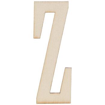 """Vintage Sign Wood Letters Z - 4"""""""