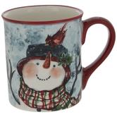 Snowman & Cardinal Mug