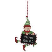 Being Nice Elf Ornament