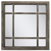 Quadrant Rustic Wood Wall Mirror