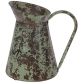 Green Rustic Metal Pitcher