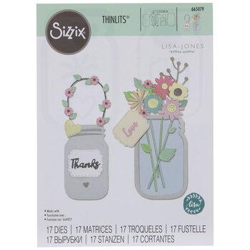 Sizzix Thinlits Jar Of Flowers Dies
