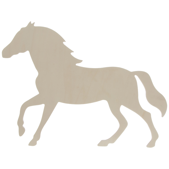 Wood Craft Horse Cutout Rodeo Horse Cut Out Wood Shape Craft Supply