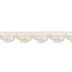 Ivory Crochet Scallop Trim - 1/2