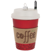 Red Coffee Cup Ornament
