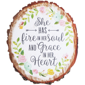 Fire In Her Soul Wood Wall Decor