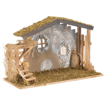 Mossy Brown Nativity Stable