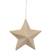 Paper Mache Star Ornament