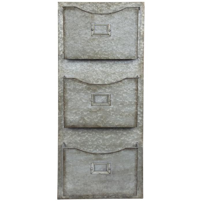 Three Tiered Galvanized Metal Wall Organizer Hobby Lobby 1737766