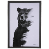 Bear With Forest Framed Wall Decor