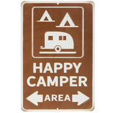Happy Camper Area Metal Sign