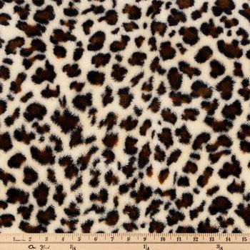 Velvet Leopard Faux Fur Fleece Fabric