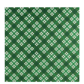 Metallic Green Diagonal Plaid Gift Wrap