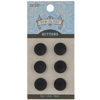Matte Concave Round Buttons - 13mm