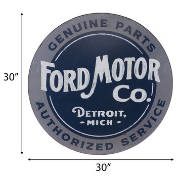 Ford Motor Company Circle Metal Sign