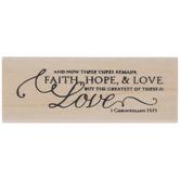 1 Corinthians 13:13 Rubber Stamp