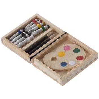 Miniature Artist Painting Tools