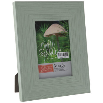 Green Distressed Wood Look Frame