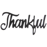 Thankful Metal Word Decor