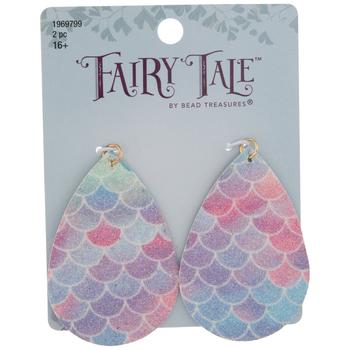 Mermaid Scales Glitter Teardrop Pendants