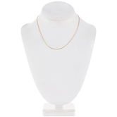 """14K Gold Plated Snake Chain Necklace With Extender - 16"""""""