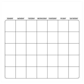"Calendar Scrapbook Paper - 12"" x 12"""