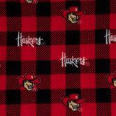 Nebraska Allover Collegiate Fleece Fabric