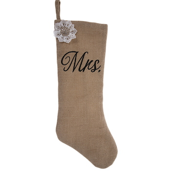 Mrs Burlap Stocking