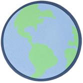 Earth Painted Wood Shape