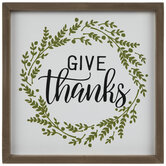 Give Thanks Wreath Wood Wall Decor