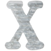 Corrugated Metal Letter Wall Decor - X