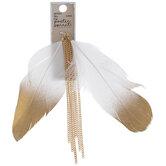 Feather & Chain Tassel Pendants