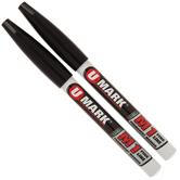 Black Fine Line Permanent Markers - 2 Piece Set