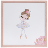 Pink & Blue Ballerina Wood Wall Decor