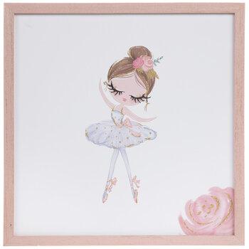 Pink & Blue Ballerina Wood Wall Decor