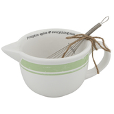 Pumpkin Spice Mixing Bowl With Whisk