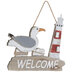 Welcome Seagull Wood Wall Decor