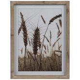 Wheat Framed Wall Decor