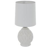 White Wavy Textured Lamp