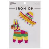 Fiesta Hat & Pinata Iron-On Appliques