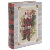 Plaid Santa Book Box