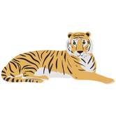 Tiger Painted Wood Shape