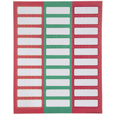 Red & Green Address Mailing Labels