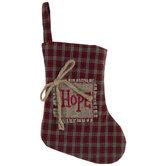 Mini Hope Plaid Stocking
