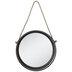 Round Galvanized Metal Wall Mirror