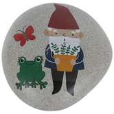 Gnome & Frog Garden Stone