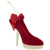 Red & Gold High Heel Ornament