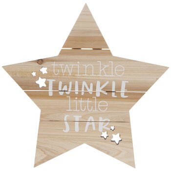Twinkle Twinkle Wood Wall Decor
