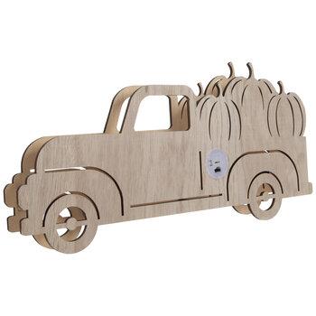 Truck Light Up Wood Decor
