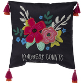 Kindness Counts Floral Pillow